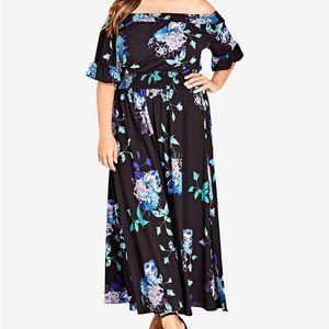City Chic Plus Size Off The-Shoulder Maxi Dress